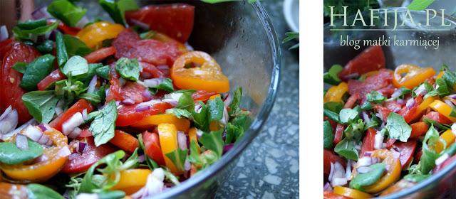 sałatka z pomidorów hafija