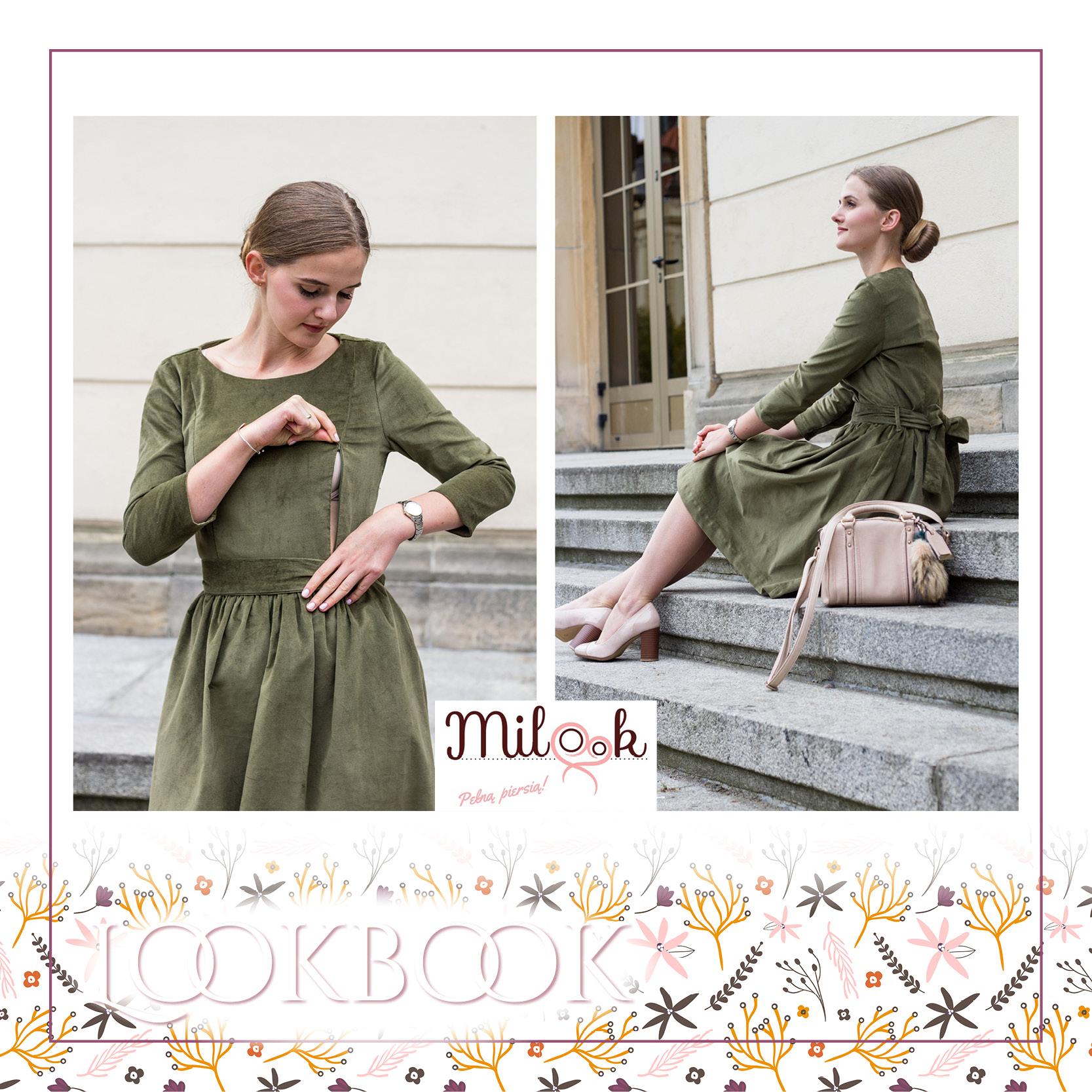 981c5f090 Sukienka Olive Coffee Sukienka do karmienia Olive Coffee została stworzona,  by otulać mamy w jesienne i zimowe dni. Bawełniany aksamit to niezwykła  tkanina, ...